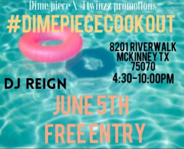 June 5th pool party flyer. No mention of membership cards, being a neighborhood resident, or being a classmate as a requirement to attend.