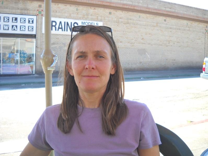 Zenya Beth Moon eating Brazilian food in Berkeley, CA
