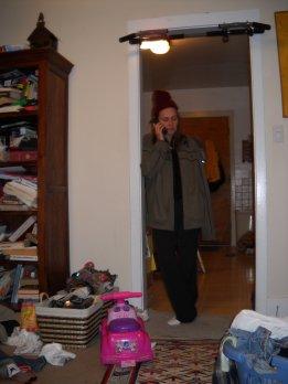 Beth on the phone on November 10th, 2009