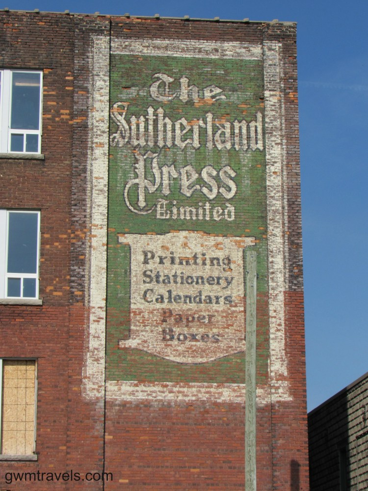 Ghost Sign Sutherland Press