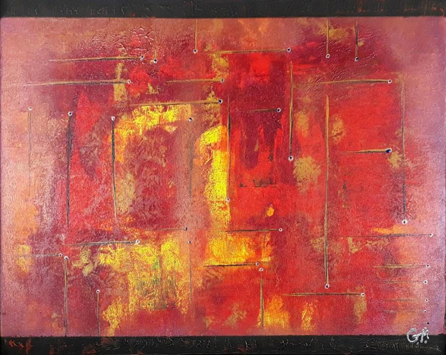 """#66 """"Entropie"""" Acrylique sur toile, 40x50"""
