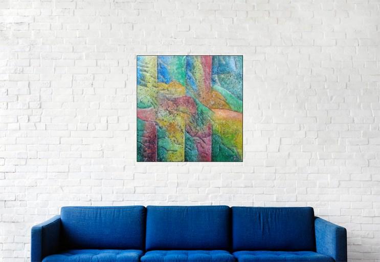 Acrylique sur toile, 40x40