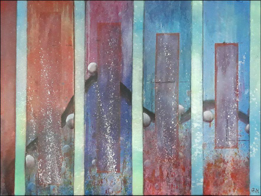 """#113 """"Respire"""" Acrylique sur toile, 60x80"""
