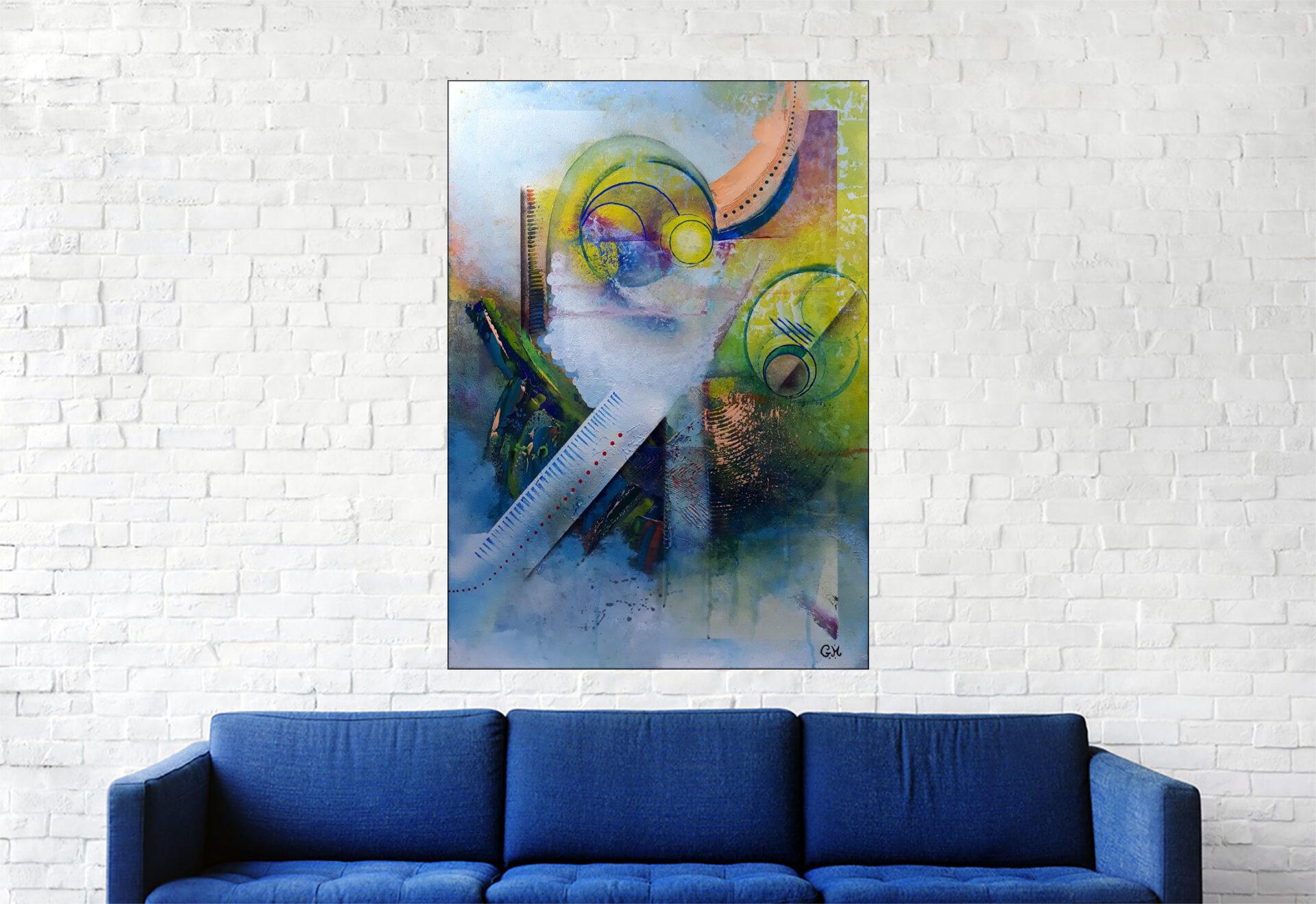 """#166 """"Exile"""" Acrylique sur toile, 70x50 cm"""