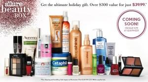 Allure Winter 2013 Beauty Box