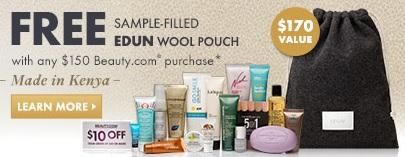 Beauty.com deluxe sample bag