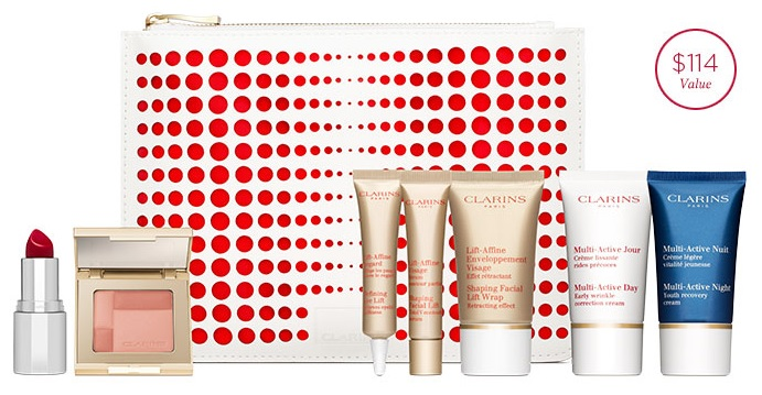New Shiseido Gift with Purchase, Clarins Valentine's Day Offer