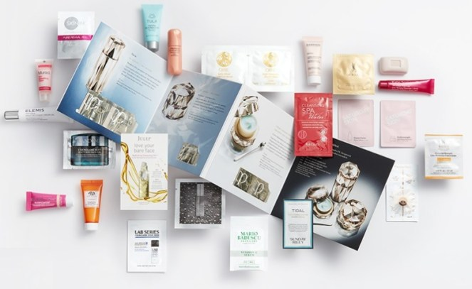 beauty sampler at Nordstrom