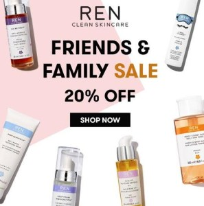 Ren Skincare Friends and Family Sale