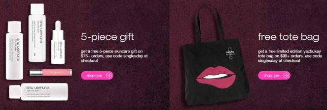 shu uemura gift with purchase