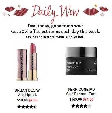 Sephora Daily Wow Deals February 28 2019