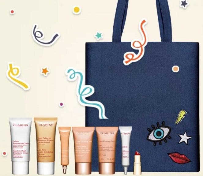 clarins birthday gift with purchase