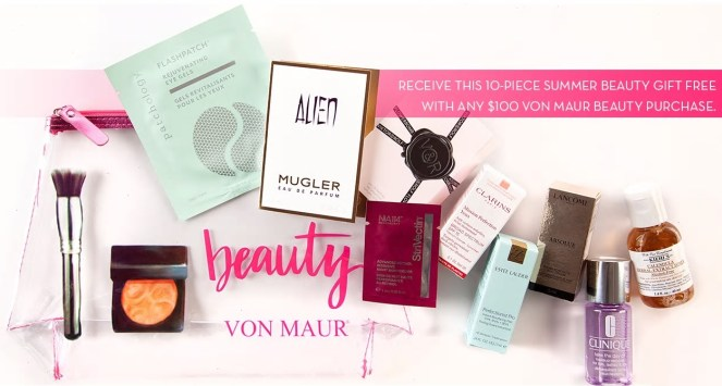 Von Maur Beauty Week gift with purchase July 2019