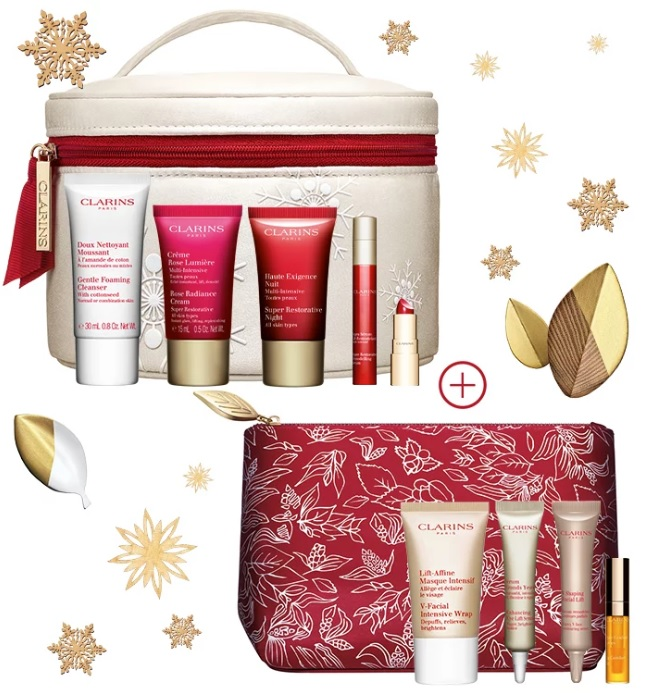 clarins singles' day double gift with purchase offer