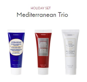korres exclusive holiday set gift with purchase