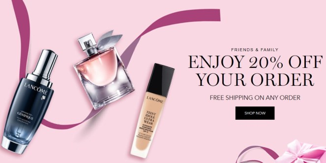 Lancome Friends and Family Sale November 2019