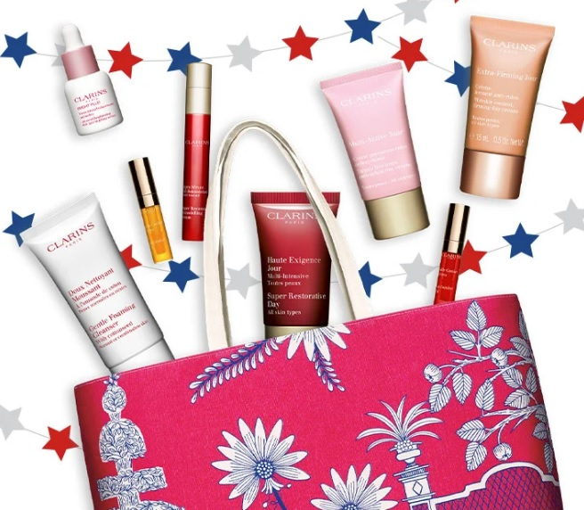 clarins 4th of july gift with purchase 2020