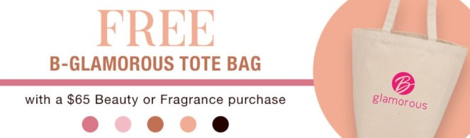 beauty week at boscov's tote gwp fall 2020