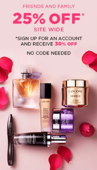 lancome friends and family sale august 2021