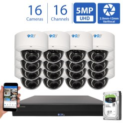 GW571HD16-4T 16 Channel 16 Camera Coaxial 5MP DVR Security Camera System