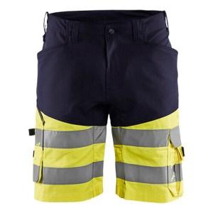 Blåkläder short 1541 met stretch High Vis Marine/Geel