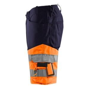 Blåkläder short 1541 met stretch High Vis Marine/Oranje