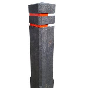 Diamantkoppaal van gerecycled kunststof zwart of bruin