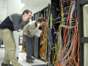 Grid Monkeys looking for the right server to reboot during a SL grid slowdown