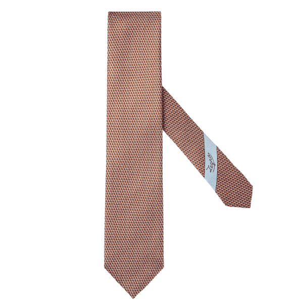 Orange, Blue, and Red Detailed Tie