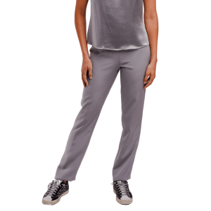 Silver and Grey Silk Pant