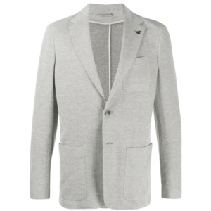 Canali - Slim Fit Jersey Blazer in Light Grey