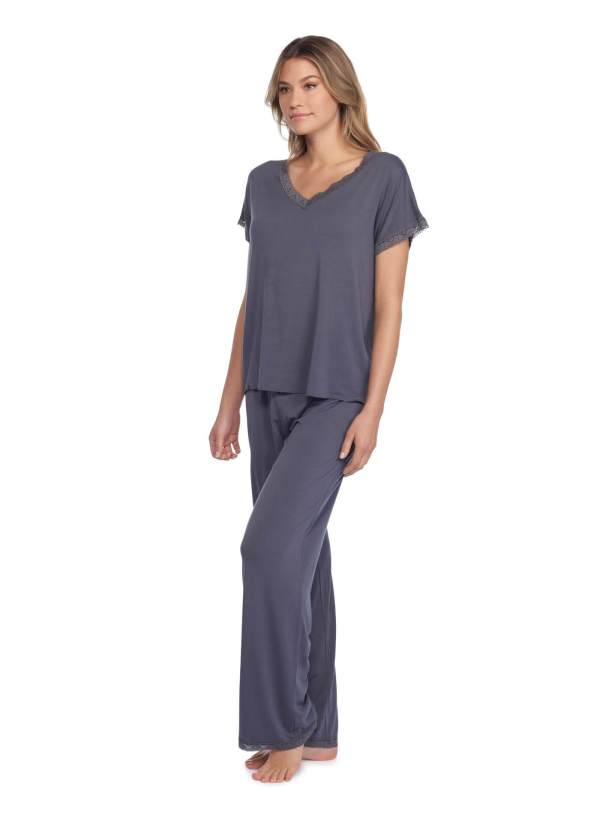 Luxe Milk Jersey Pant and V-Neck Set