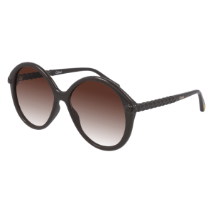 Chloe Vintage Brown Round Sunglasses product shot front side view