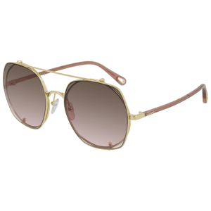 Chloe Gradient Brown Sunglasses product shot front side view