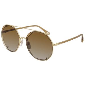 Chloe Gradient Orange Sunglasses product shot front side view