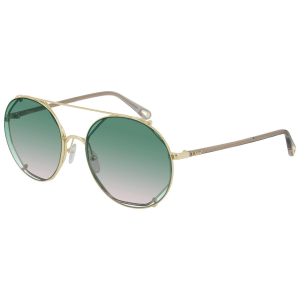 Chloe Green Gradient Sunglasses product shot front side view