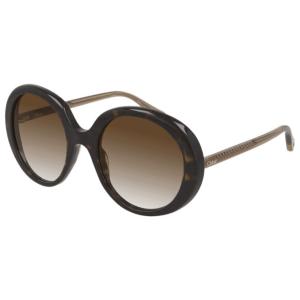 Chloe Dark Brown Havana Sunglasses product shot front side view