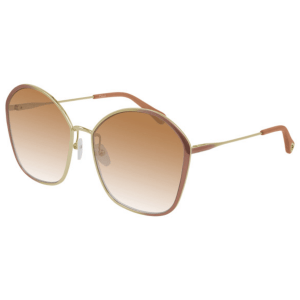 Chloe Nude Beige Gold Sunglasses product shot front side view