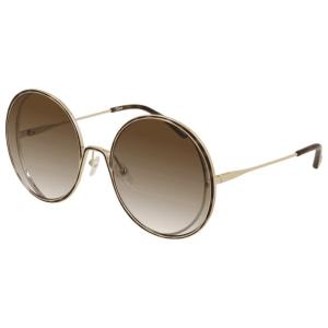 Chloe Gold Havana Sunglasses product shot front side view