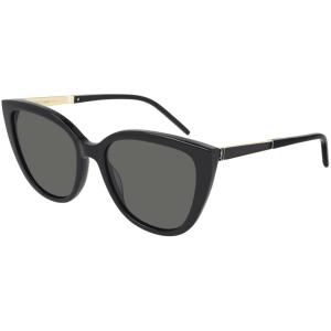 Saint Laurent Black Cat Eye Sunglasses product shot front side view