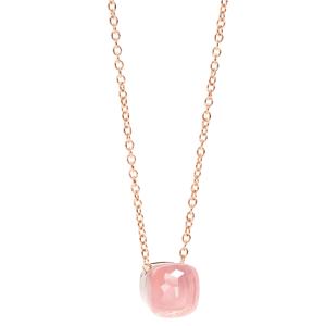 Nudo Rose Quartz Chalcedony Pendant Necklace