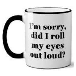 Roll My Eyes Mug product shot front view