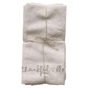 Thankful Blessed Grateful Napkins