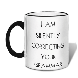 Grammar Mug product shot front view