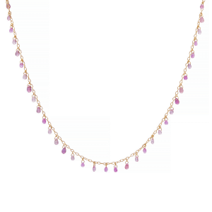 Pink Tourmaline Briolettes Necklace