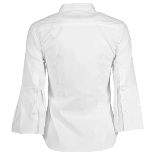 Puff Sleeve Button Front Blouse