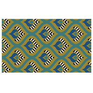Mackintosh Rug - 3' x 5' - Peacock