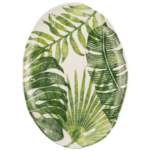 Into the Jungle Medium Oval Platter product shot aerial view