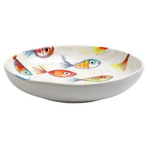 Pesci Colorati Shallow Bowl product shot side view