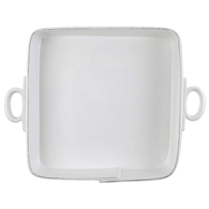 Large White Square Baker product shot aerial view